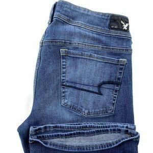 American Eagle Kick Boot Blue Stretch Bootcut Jean